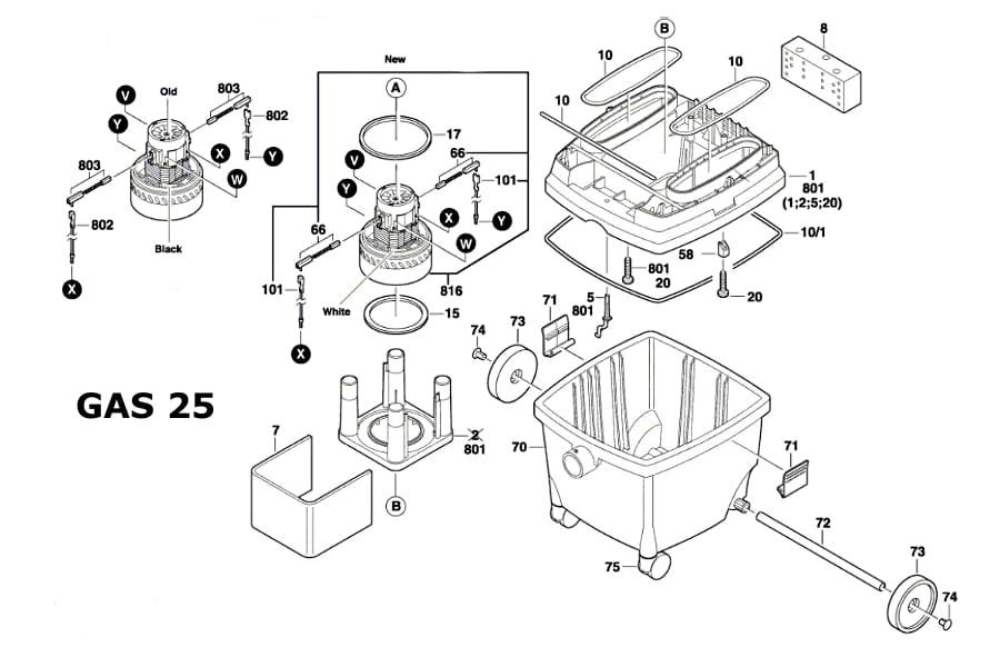 cz ci zamienne do odkurzacza bosch gas 25 1609203c56 p ytka modu elektroniki. Black Bedroom Furniture Sets. Home Design Ideas